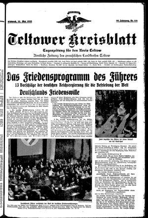 Teltower Kreisblatt vom 22.05.1935