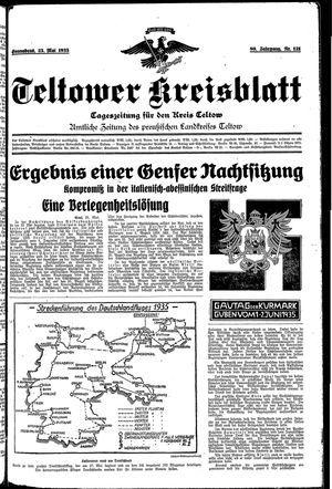 Teltower Kreisblatt on May 25, 1935