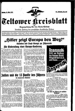 Teltower Kreisblatt vom 27.05.1935