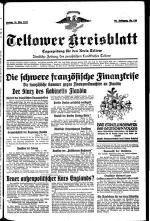 Teltower Kreisblatt vom 31.05.1935