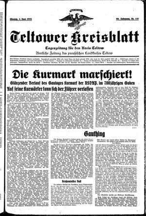Teltower Kreisblatt vom 03.06.1935