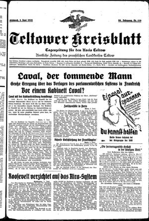 Teltower Kreisblatt vom 05.06.1935
