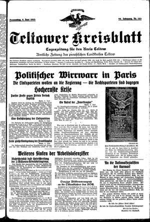 Teltower Kreisblatt vom 06.06.1935