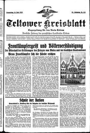 Teltower Kreisblatt vom 13.06.1935