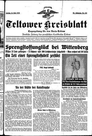 Teltower Kreisblatt vom 14.06.1935
