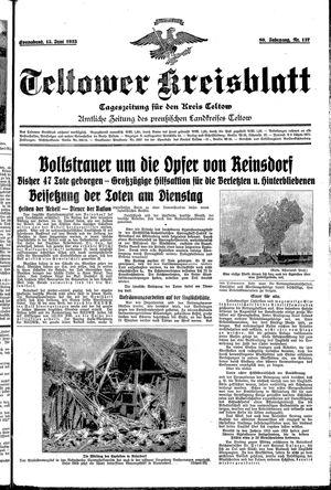 Teltower Kreisblatt vom 15.06.1935