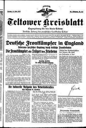 Teltower Kreisblatt vom 21.06.1935