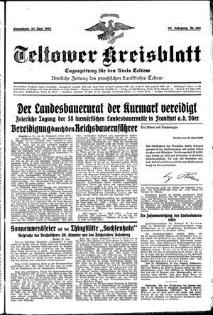 Teltower Kreisblatt vom 22.06.1935