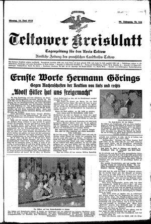 Teltower Kreisblatt vom 24.06.1935