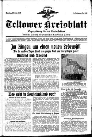 Teltower Kreisblatt vom 25.06.1935