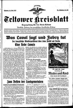 Teltower Kreisblatt vom 26.06.1935