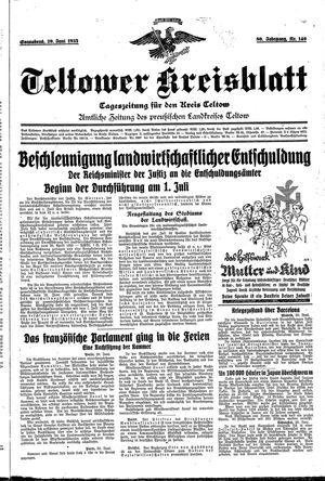 Teltower Kreisblatt vom 29.06.1935