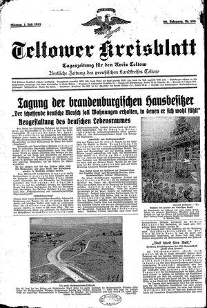 Teltower Kreisblatt vom 01.07.1935