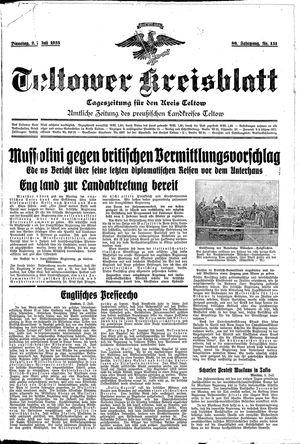 Teltower Kreisblatt vom 02.07.1935