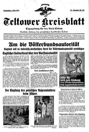 Teltower Kreisblatt vom 04.07.1935