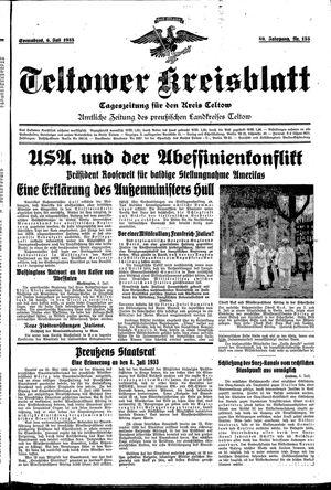 Teltower Kreisblatt vom 06.07.1935
