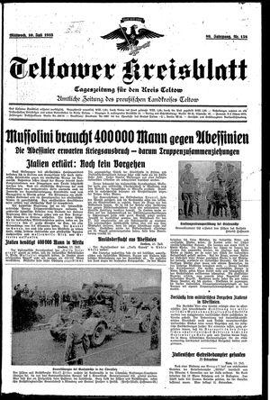 Teltower Kreisblatt vom 10.07.1935