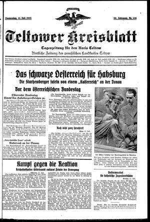Teltower Kreisblatt vom 11.07.1935