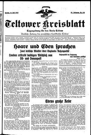 Teltower Kreisblatt vom 12.07.1935