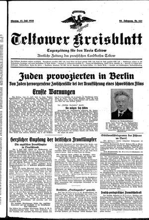 Teltower Kreisblatt vom 15.07.1935