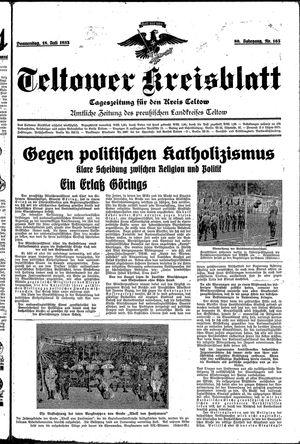 Teltower Kreisblatt vom 18.07.1935