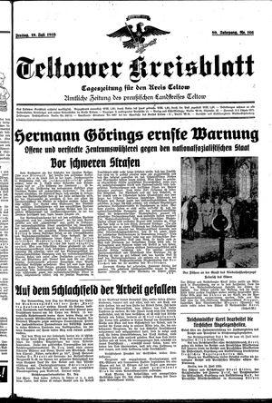 Teltower Kreisblatt vom 19.07.1935