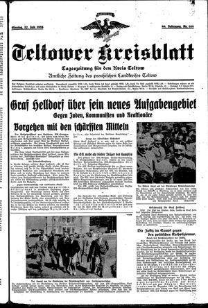 Teltower Kreisblatt on Jul 22, 1935