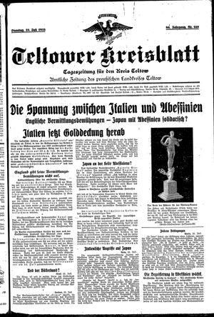 Teltower Kreisblatt vom 23.07.1935