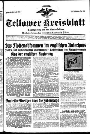 Teltower Kreisblatt vom 24.07.1935