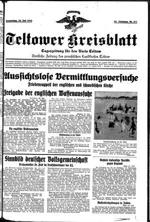 Teltower Kreisblatt vom 25.07.1935
