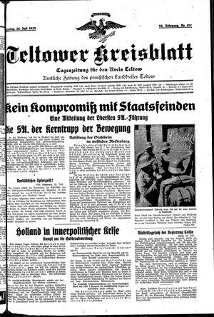 Teltower Kreisblatt vom 26.07.1935