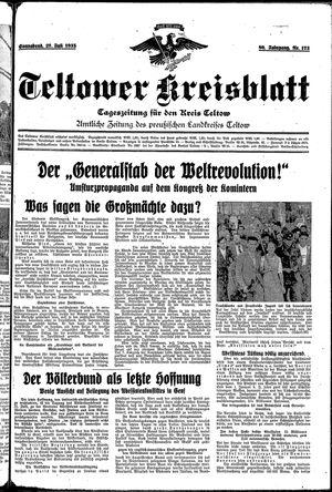 Teltower Kreisblatt vom 27.07.1935
