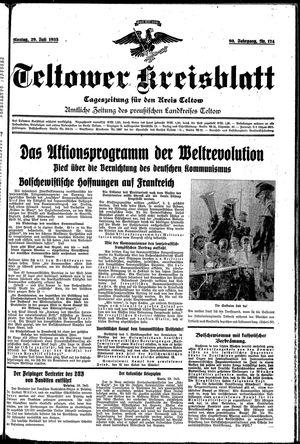 Teltower Kreisblatt vom 29.07.1935