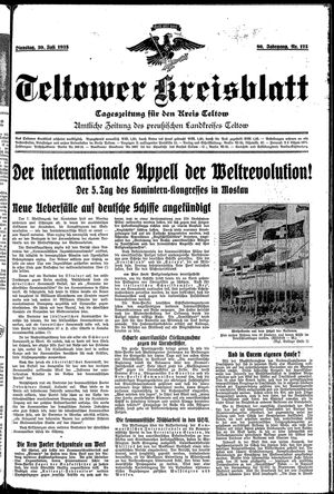 Teltower Kreisblatt vom 30.07.1935