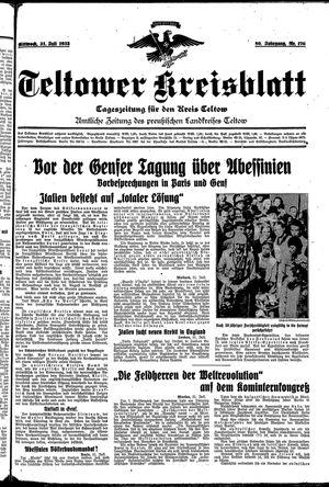 Teltower Kreisblatt on Jul 31, 1935