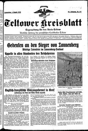 Teltower Kreisblatt vom 01.08.1935
