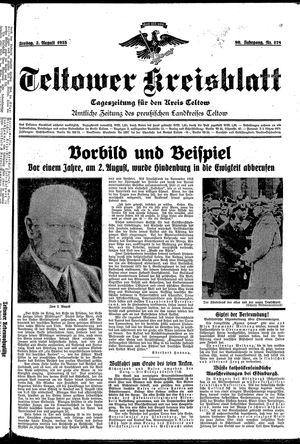 Teltower Kreisblatt vom 02.08.1935