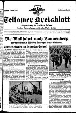 Teltower Kreisblatt vom 03.08.1935
