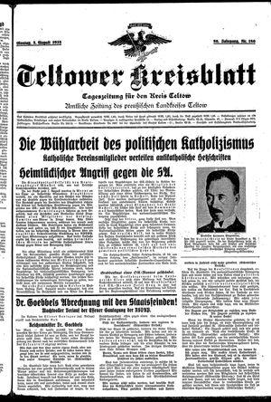 Teltower Kreisblatt vom 05.08.1935