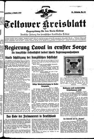 Teltower Kreisblatt vom 08.08.1935