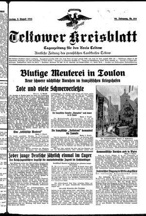 Teltower Kreisblatt vom 09.08.1935