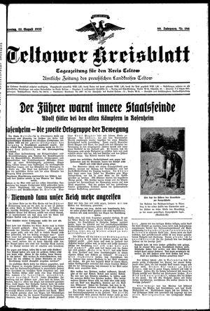 Teltower Kreisblatt vom 12.08.1935
