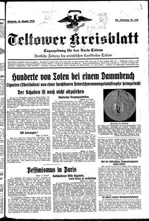 Teltower Kreisblatt vom 14.08.1935