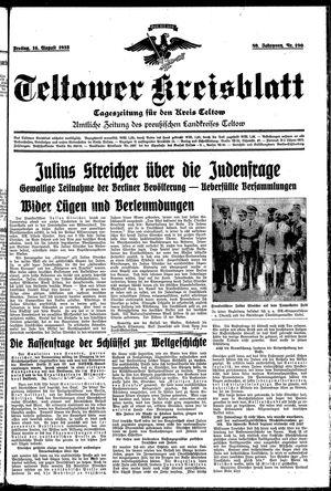 Teltower Kreisblatt vom 16.08.1935