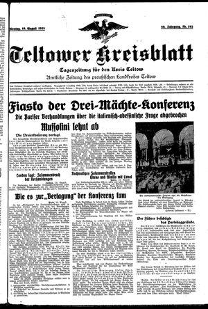 Teltower Kreisblatt vom 19.08.1935