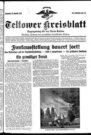 Teltower Kreisblatt vom 20.08.1935
