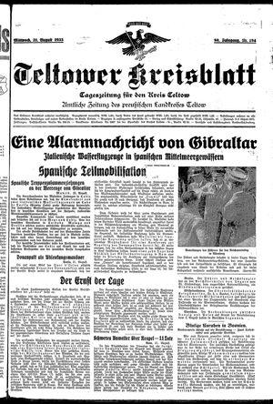 Teltower Kreisblatt vom 21.08.1935