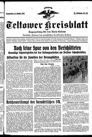 Teltower Kreisblatt vom 22.08.1935