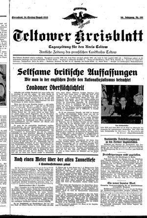 Teltower Kreisblatt vom 24.08.1935