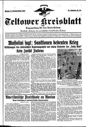 Teltower Kreisblatt vom 26.08.1935